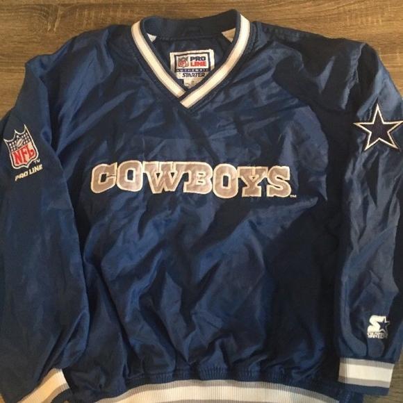 wholesale dealer 917d9 0370b Vintage Starter Proline Dallas Cowboys PullOver